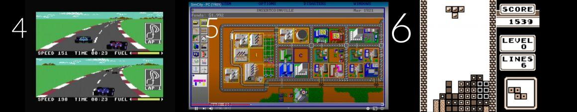 Top jeux vidéos retro: PitStop 2  - SimCity - Tetris