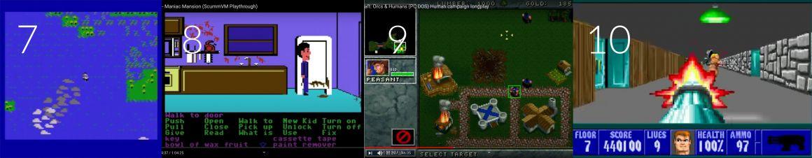 Top jeux vidéos retro: Sid Meier's Pirates - Maniac Mansion - Warcraft - Wolfenstein 3D